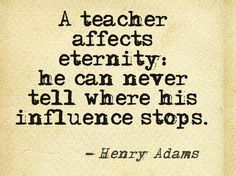 Even if your students come back the next year and their new teacher is teaching differently than you, you have to remember that you affected that student in such a way that they are comfortable coming back to you.  Never get discouraged with the way another teacher teaches.  Focus on what and how you teach to make the biggest difference that you can