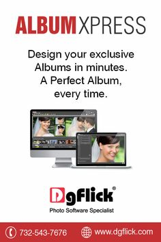 Design exclusive high quality albums in the fastest way possible using ‪#‎AlbumXpress‬ by ‪#‎DgFlick‬ .Get a FREE TRIAL NOW!! http://goo.gl/giX32H