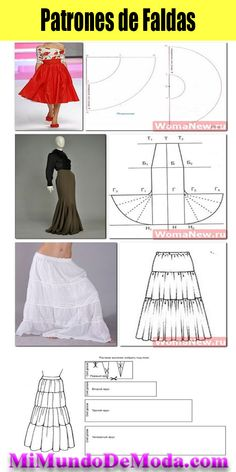 Patterns skirts - My World Of Fashion - Courses Sewing Patterns Techniques Couture, Sewing Techniques, Diy Clothing, Sewing Clothes, African Fashion Dresses, Hijab Fashion, Fashion Courses, Dress Sewing Patterns, Dressmaking