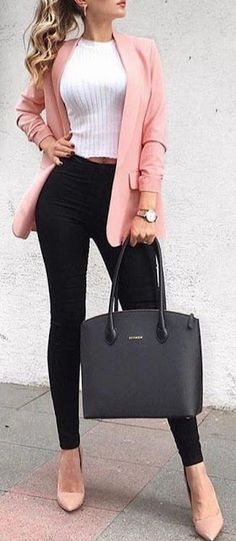 Work attire ideas for Fashion outfits Work Outfits Office Outfits Fall Fashion 2019 Winter Outfits 2019 Pants Outfits 2019 Crop Top Outfits 2019 Summer Fashion 2019 Casual Work Outfits, Mode Outfits, Work Attire, Work Casual, Fashion Outfits, Dress Casual, Fashion Clothes, Fashion Ideas, Classy Outfits For Women