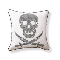 Skull Pillow 18x18, $56, now featured on Fab.
