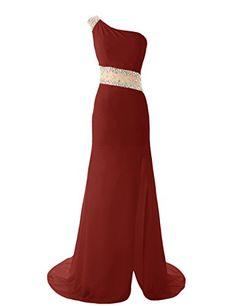 Diyouth One Shoulder Mermaid Bridesmaid Dresses Backless Beaded Formal Prom Gowns Burgundy Size 2 Diyouth http://www.amazon.com/dp/B00MM2OGPY/ref=cm_sw_r_pi_dp_jkNEub06FFS3S