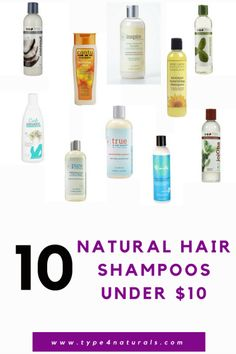 10 Natural Hair Shampoos Under $10
