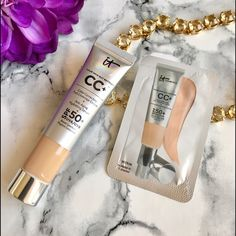 🆕 🎀 It Cosmetics CC Foundation 💕Travel 🆕 🎀 It Cosmetics CC Your Skin But Better 50 SPF Foundation 🍃Medium Shade 💕 MEDIUM Travel Size 12ml 🍃 NEW and Sealed 🌷 FREE Sample of Medium Shade CC Packet comes with this purchase. This is a MUST Have for Summer ⭐️ Anti-Aging Foundation that will keep skin protected and rejuvenated! Limited Supply. ☀️ I also carry TOO Faced * Urban Decay * Bobbi Brown * Tarte * Marc Jacobs * BECCA and so much more..  🎉 it Cosmetics Makeup Foundation