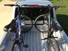 Mount your mountain bikes to the Swagman Pick-Up Truck-Bed-Mounted bike rack. Mount two or more bikes to the sturdy crossbar that spans the width of the truck bed.