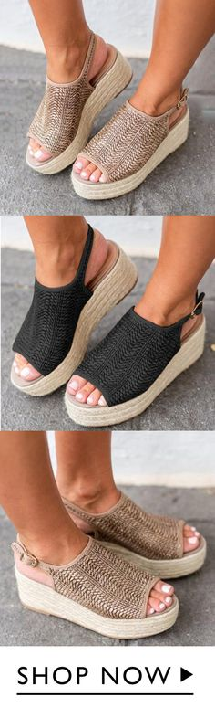 off, JellyNova Casual Platform Peep Toe Espadrille Sandals Peep Toe Espadrilles, Espadrille Sandals, Flats, Sock Shoes, Cute Shoes, Me Too Shoes, Shoe Boots, Awesome Shoes, Streetwear