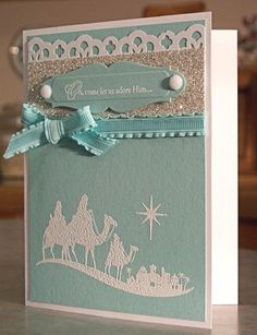 Stampin Up Christmas Cards | ... Spark - WhimsyArt1 - Stampin Up Come to Bethlehem Christmas Card by savannah