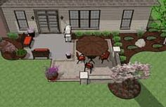 Tons of awesome ideas for patio layouts!