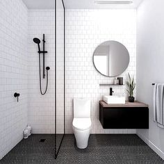 Looking for Cool Small Bathroom Remodel Ideas For Your Concept? Take a look at our best small bathroom design ideas to inspire you to decorate your small bathroom. White Bathroom Tiles, Small Bathroom Vanities, Bathroom Tile Designs, Bathroom Interior Design, Modern Bathroom, Master Bathroom, Bathroom Ideas, White Tiles, Bathroom Pink