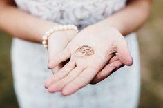 Simple vintage wedding rings | Folly farm wedding | Photo by Liron Erel Echoes & Wild Hearts