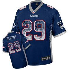 Nike Patriots Blank Navy Blue Team Color Men's Stitched NFL Elite Jersey
