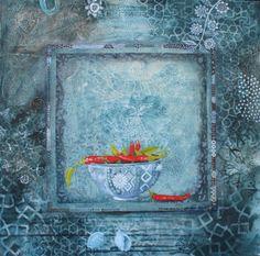 chilli on blue cate edwards- artist illustrator