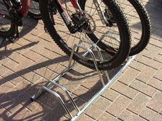 Bison products-Floor Mounted Dual Height Cycle Rack- Flat Top 3 - 4 & 5 Section