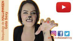 Cómo hacer un Maquillaje para halloween Gata Sexy Fácil y Rápido!