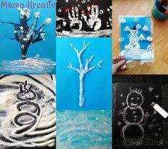 Tolle Ideen zum malen im Winter http://mamakreativ,com