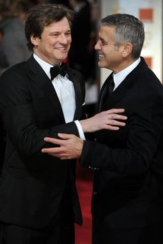 With George Clooney Old Hollywood Glamour, Hollywood Actor, Actor Gary Oldman, Mr Darcy, Jamie Campbell Bower, British Academy Film Awards, Richard Gere, Best Supporting Actor, Colin Firth