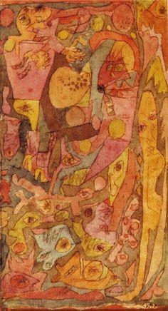 Paul Klee: miniature encadree d'or, 1916.