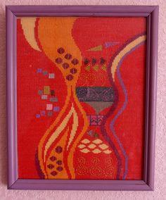 "Cross Stitch by Svetlana Shevchenko (Russia). Работа выполнена по картине  Густава Климта ""Тысяча и одна ночь""."