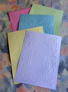Anna Griffin Happy Birthday Embossed by mydiecutboutique on Etsy