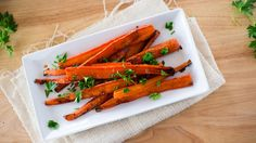 Maple Ginger Roasted Carrots