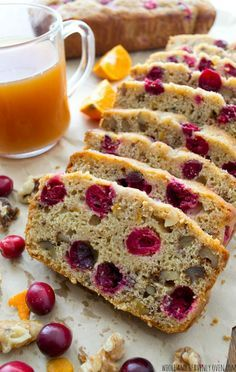"This is my grandma's prized cranberry bread recipe! Lightly flavored with orange, super-soft inside and chock-full of tart cranberries and crunchy walnuts, it's been deemed ""perfect"" by everyone who tastes it! @WholeHeavenly"