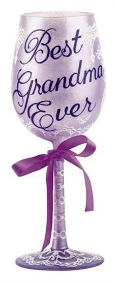 Best Grandma Ever Wine Glass Pin for Later: The Most Thoughtful Mother's Day Gift Ideas Grandma Will Absolutely Love Best Grandma Ever Wine Glass ZaZ. day gifts for grandma cricut Best Grandma Ever Wine Glass Birthday Gifts For Grandma, Best Birthday Gifts, Grandma Gifts, Birthday Ideas, Holiday Money, 31st Birthday, Painted Wine Glasses, Mother Day Gifts, Best Gifts