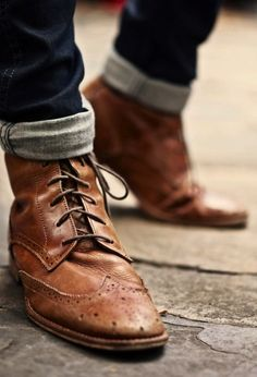 Men's Lace Up Boots  Japanese street fashion
