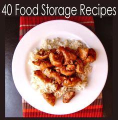 40 Food Storage Recipes and Food Storage/Pantry Staple Lists     Jamie Cooks It Up!: