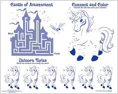 enchanted unicorn | Enchanted Unicorn Party Activity PK4 Dinner Placemats | eBay