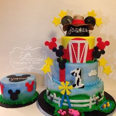 Mickey Mouse Farm theme cake!!!
