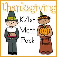 Thanksgiving K/1st Grade Math Pack
