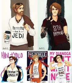 "Modern Millenial Star Wars by Desiree ""shorelle"" Surjadi"