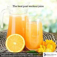 After an intense workout the body needs to restore the fluid levels. Orange juice is the best post workout elixir for your body. #NoExcuses #LibertyVideocon