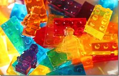 Lego Jell-O! Are you kidding me? This takes playing with your food to a whole new level and one that my nephew and niece would LOVE! I think this is awesome! :)
