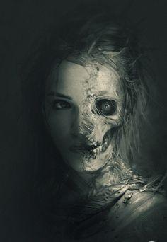 Dark Fantasy Art, Creepy Art, Scary, Beautiful Dark Art, Pagan Witch, Dark Photography, Horror Art, Skull Art, Fantasy Characters