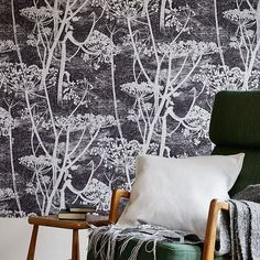 COLE & SON COW PARSLEY - BLACK