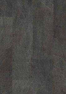 Ambient Black Slate Effect by Quick Step Luxury Vinyl Tile, Kitchen Flooring, Contemporary, Modern, Slate, Tile Floor, Hardwood Floors, Tiles, Bathroom Ideas