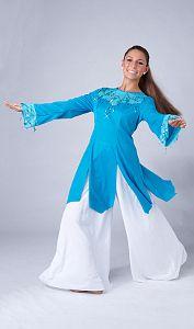 Adult vision top more dance ministry vestidos de danza cristiana