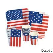 I want a  Patriotic Flag Party Pack 40 Pieces Tableware/Invitations/4th of July/Memorial Day/Party Supplies / http://www.holidaygoodness.com/patriotic-flag-party-pack-40-pieces-tablewareinvitations4th-of-julymemorial-dayparty-supplies/