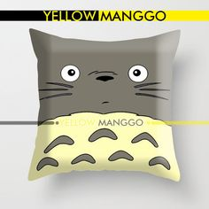 """Totoro My Neightbour Design Pillow Case Cover Bedding 18""""x18"""" Unique Gift. by YELLOWMANGGO on Etsy"""