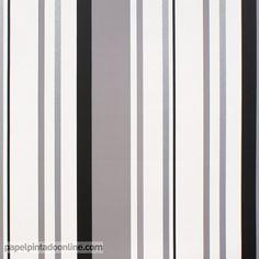 papel pintado funny walls 257 5613 de rayas verticales de diferentes grosores y tonalidades de