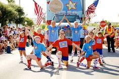 gigis fab kids in the 2014 south walton fourth of july parade in seaside, fl