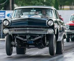 55 Ford Gasser off the line