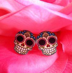 LOVE these sugar skull earrings!