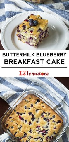 Buttermilk Blueberry Breakfast Bake