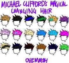 Michael Clifford's hair