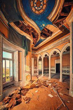 Abandoned European castle