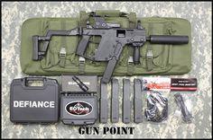 KRISS VECTOR SBR TAC-PAC 5 MAGS EOTECH SILENCER : Short Barrel Rifles (SBR) 45ACP $4099.00