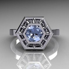 Classic Japan Style 10K White Gold 050 Carat Round by artmasters, $749.00