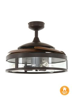 fanaway classic orb ceiling fan with clear retractable blades and light kitchen